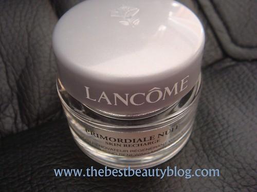 Lancome, night cream, nuit skin recharge