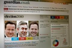 Guardian.co.uk front page election coverage