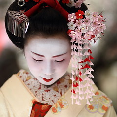 japan / portrait / canon 7d / people / beauty / festival / tea ceremony (momoyama) Tags: travel portrait people woman colour girl beautiful beauty face festival japan canon japanese costume kyoto asia tea traditional ceremony culture maiko geisha 7d   kimono ef85mmf18 kanzashi