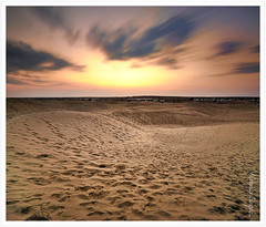 Footprints Everywhere (Abhinav Singhai) Tags: longexposure travel sunset sun india sand desert indian footprints tammy filter nd getty tamron vacations thar density neutral d90 flickrexplore thardesert greyfilter explored incredibleindia samsanddunes nd110 nikond90 1024mm greatindiandesert indiandesert tamron1024mm gettyvacations travelindian