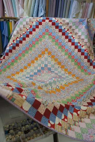 A quilt made by the instructor