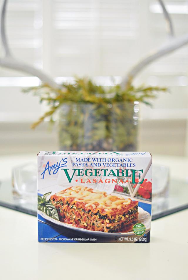 amy's organic lasagna, yummy foods, quick healthy food, DSC_0035