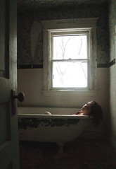 (yyellowbird) Tags: house abandoned girl illinois bathtub cari rockford