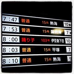 乗るのは8:00の踊り子号