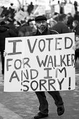 I Voted For Walker And I'm Sorry! (BlueRobot) Tags: sign wisconsin democracy workers budget labor union capital rally protest demonstration capitol governor solidarity walker madison rights wi protesters employees scottwalker ef85mmf18usm collectivebargaining killthebill budgetrepairbill solidaritywi wiunion notinmywi wearewi