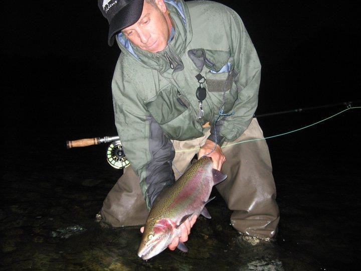 Timothy Horner tube fly fishing and native buck