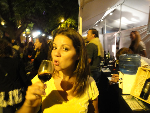 Enjoying the Megadegustacion in Mendoza