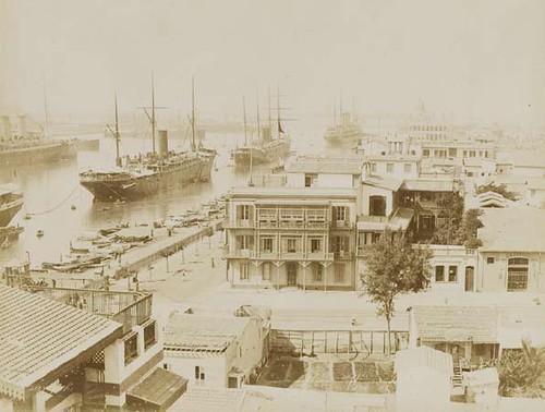 Begin van het Suezkanaal bij Port Said / Start of the Suez Canal near Port Said / Awal terusan Suez di Port Said, circa / sekitar 1875