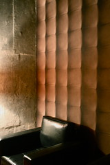 THE THINKING CHAIR (LuLanzoni) Tags: light black leather concrete chair capitone fakewallpaper