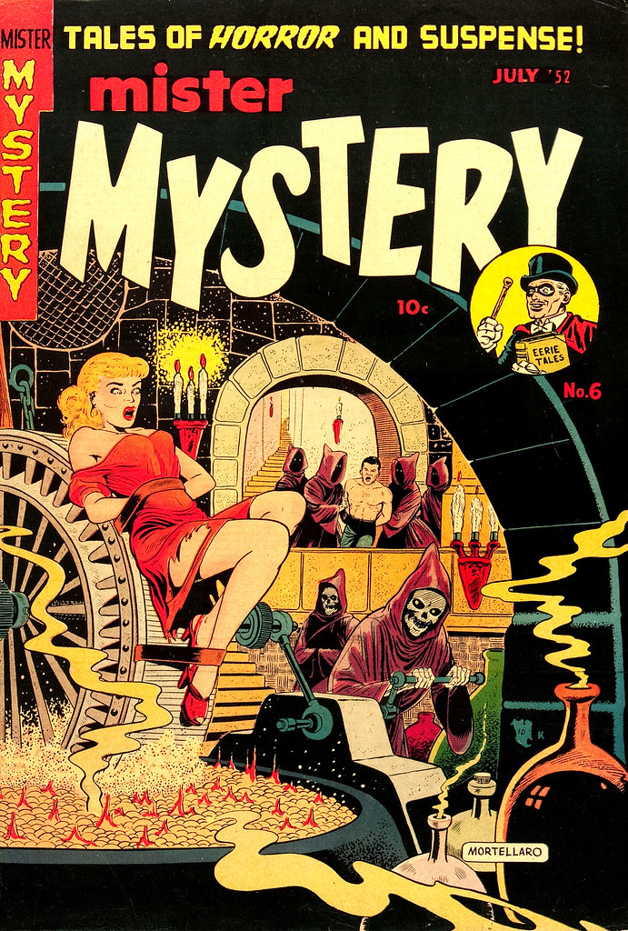 Mister Mystery #6 Tony Mortellaro Cover (Aragon Magazines, Inc. 1952)