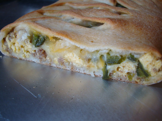 jalapeno sausage egg braid