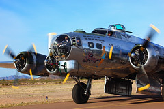 B-17 Sentimental Journey Taxiing for take off 2011 Cactus Fly In (gbrummett) Tags: arizona aircraft az b17 worldwarii ii ww bomber flyin casagrande cactusflyin img0071 canonef100400mmf4556lisusmtelephotozoomlens canon5dmarkiicamera grantbrummett b17gsentimentaljourney