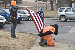 Anti-Torture Vigil - Week 39: Kneeling in the Snow