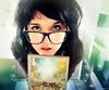 6/7 - Poción Multijugos [serie Potter] (Lunayda) Tags: portrait selfportrait girl stars glasses eyes nikon tales magic harrypotter bard scar potion beedle nikond5000
