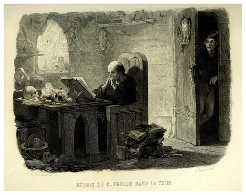 006-Habitacion de Frollo en la torre del campanario--Notre-Dame de Paris 1844- edicion Perrotin Garnier Frères