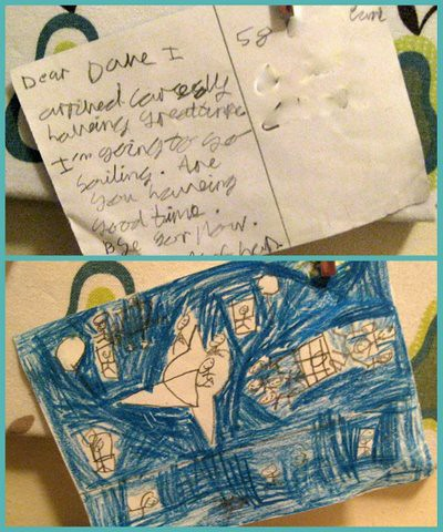using postcards to promote writing