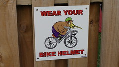 Wear Your Bike Helmet Sign