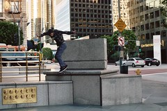 j. stars - backlip (jimmay bones) Tags: city losangeles nikon downtown skate skateboard fm2 backlip jakeystars