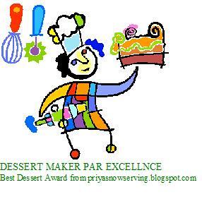 BEST DESSERT AWARD