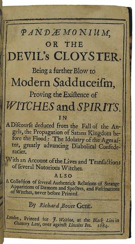 Title page of Pandaemonium, or the devil's cloister