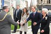 Prince William and Kate Middleton meet the Lord Mayor of Belfast Councillor Patrick McConvery and Dame Mary Peters DBE, Lord-Lieutenant of the County Borough of Belfast when they visit City Hall on March 8, 2010. Belfast