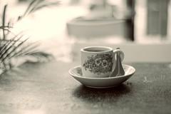 Old coffee (eric_q) Tags: street old morning travel bw coffee travels singapore asia chinatown random sony voigtlander calm trips 40mm nokton nex balades nex5