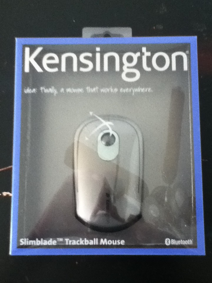 New Kensington SlimBlade Trackball Mouse - Mouse - Wireless - Bluetooth