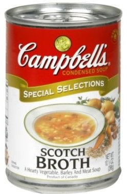 ... was Campbell's Scotch Broth, a very hearty barley soup made with lamb