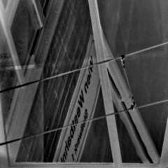 Westbahnhof Wien - Glas Fenster Spiegel - Glass Window Mirror (hedbavny) Tags: vienna wien autumn winter summer abstract reflection art window austria mirror sketch österreich spring track sommer fenster spiegel kunst diary herbst jahreszeit railway zug bahnhof sketchbook september note abstraction bahn spiegelung tagebuch abstrakt frühling geleise schiene gleis railtrack mariahilf westbahnhof skizze notiz melancholie skizzenbuch anglesanglesangles cmwdblackandwhite 1060wien westbahnhofwien 1150wien westbahnhofwesternrailwaystationviennabahnhofrailwaystationschildwien viennaösterreichaustriareflektionreflectionreflexionschwarzweisblackandwhiteinvertiertinvertednegativsquarequadratsquareformat hedbavny ingridhedbavny