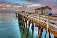 Paint My Sunrise In Pastels (Didenze) Tags: morning sky clouds sunrise canon dawn pier calm pastels serene sanclemente hdr gentle subtle 450d hdrspotting didenze