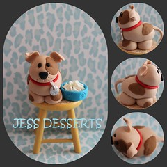 so dog'gone cute! (JessDessert's) Tags: dog brown cake puppy tan spots cupcake bones doggy pup dogbones puppydog dogbowl fondant cupcaketopper fondantdog fondanttopper fondantpuppy fondantpup fondantanimaltopper fondantdogtopper fondantpuppytopper cupcakedogtopper