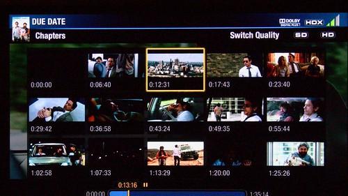Vudu Samsung 6500 Chapter Selections