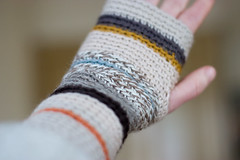 (sandra juto) Tags: wool shop hand handmade stripes crochet yarn wristwarmers wristworms