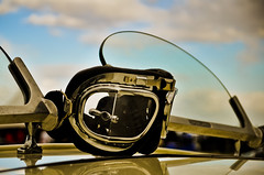 Driving goggles (|||*Sue*||| perishableperspectives) Tags: old sky hot sexy classic cars glass colors car metal club clouds vintage reflections cool interesting nikon shiny pretty driving colours shine good antique edited wheels goggles polish malta voiture racing retro motors vehicles chrome machines maltese tyres condition d5000 paqpaqli