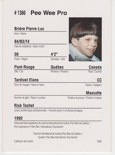 Pee-Wee - Pierre-Luc Briere - Back