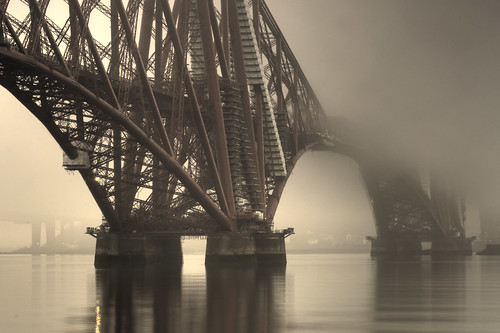 Foggy Forth Bridge (detail)