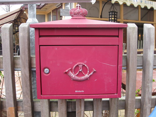 Glorious red Dutch postbox