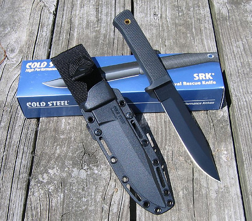 "Cold Steel SRK Survival Rescue Knife 6"" AUS-8A Steel Blade SecureEx Sheath"