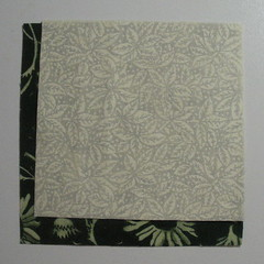 Align fabric in a corner
