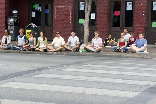 Meditating on 6th street