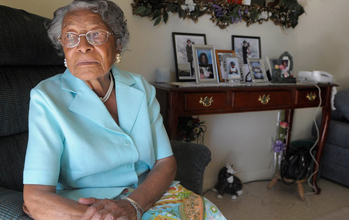 Recy Taylor, 91, in her home in Winter Haven, Fla., in October 2010. AP Photo/Phelan M. Ebenhack, File