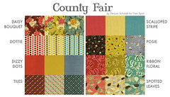 County Fair Swatches (LULUBLOOM :: lucia) Tags: quilt canvas example fabric cotton quilting oop swatches freespirit denyseschmidt