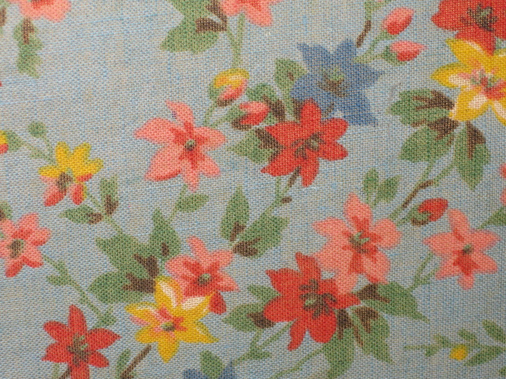 Floral Fabric Lining of a Hat Box