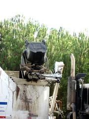 Garbage Truck Can Dumping Claw (2) (Photo Nut 2011) Tags: california trash truck garbage junk sandiego claw waste garbagecan refuse sanitation garbagetruck trashtruck wastedisposal