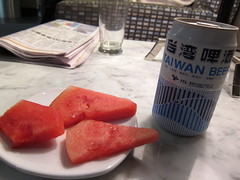 taiwan beer + watermelon