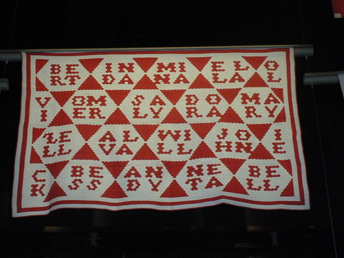 Red & White quilt