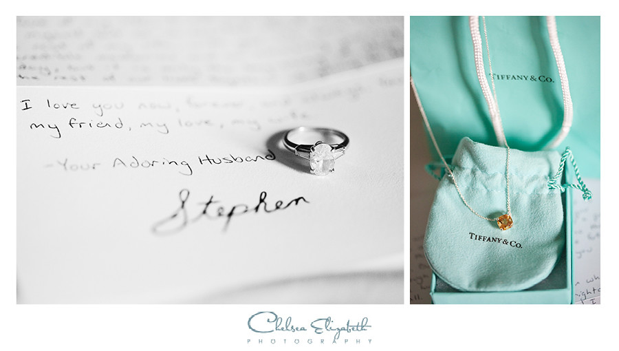 Letter from groom to bride + Tiffany necklace