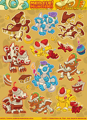 Little cake dragons stickers original art (TheSixthLeafClover) Tags: cake dragon stickers whelps