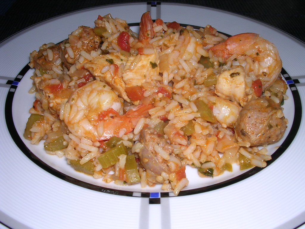 Chicken, Andouille Sausage & Shrimp Jambalaya