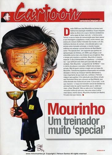 Caricatura_Jose_Mourinho_Revista_Futebolista_Abrill_2011 [Copyright Nelson Santos ] by caricaturas